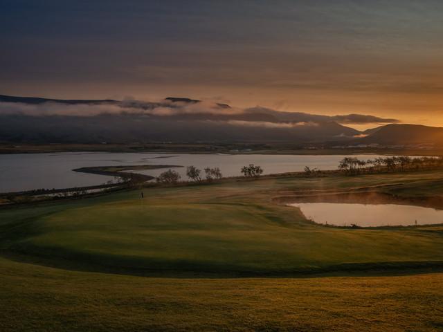 Iceland - Mosfellsbaer Golf - Golfklúbbur Mosfellsbæjar - Hlidavollur - Hlíðavöllur - midnight golf - miðnæturgolf 2 - 6th hole