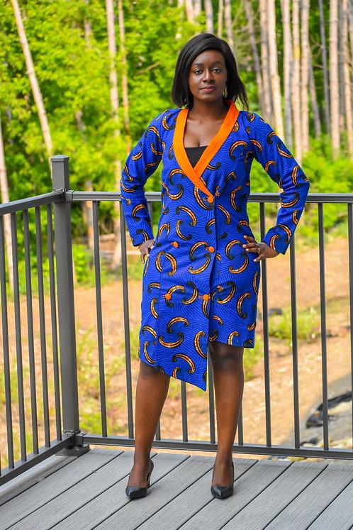 Blue Kongossa Women Dress