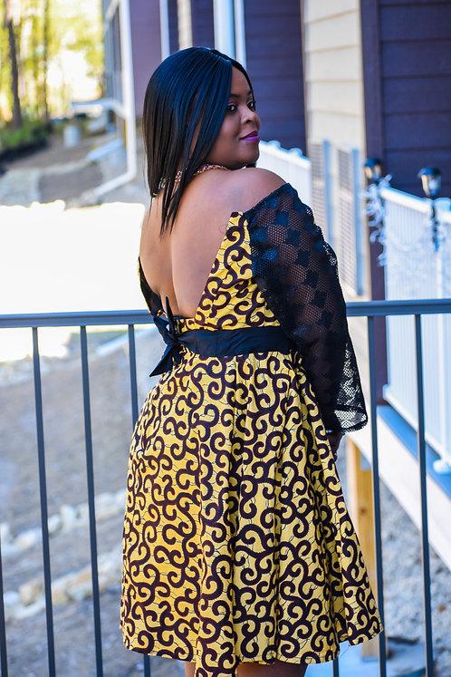YELLOW GINGER WOMEN DRESS