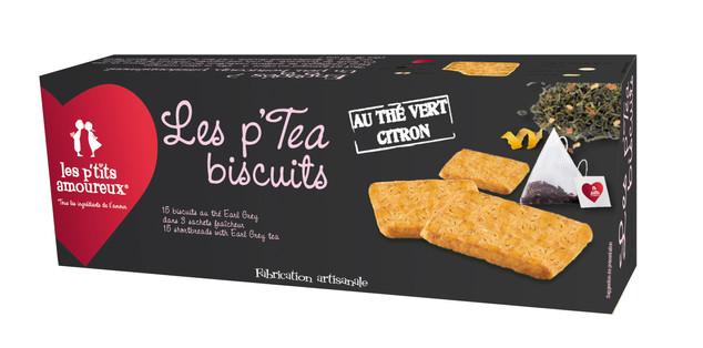 Les p'tea biscuits au thé vert citron