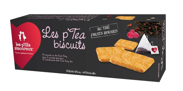 Les p'tea biscuits au thé fruits rouges