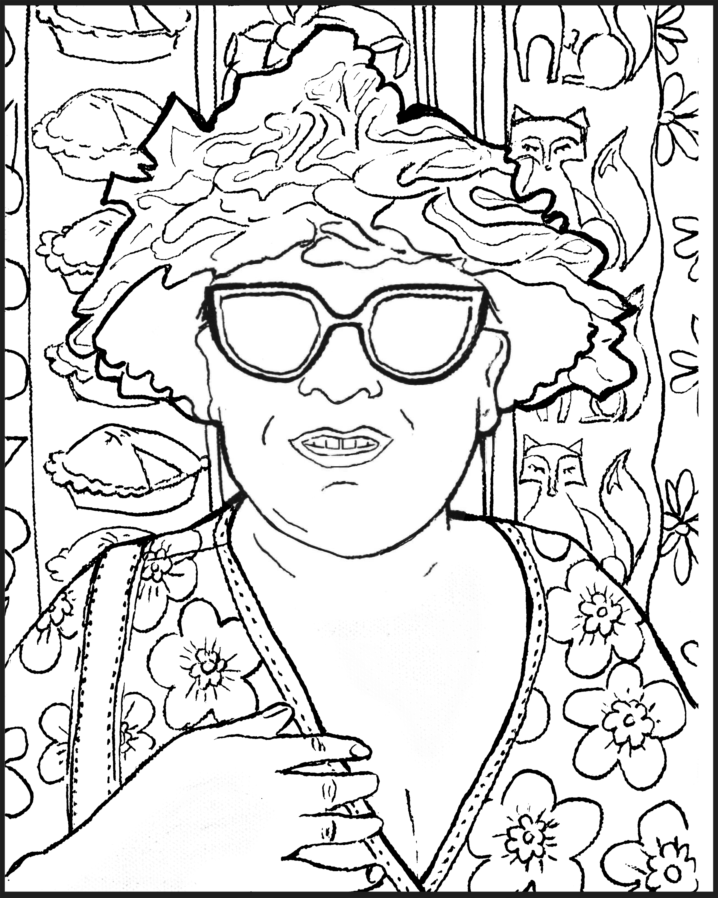 Be a coloring page!