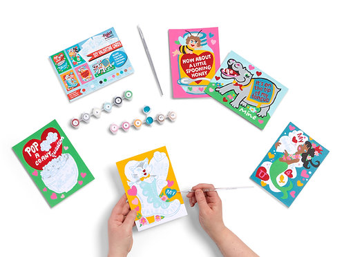 DIY Valentine Cards Paint by Numbers Kit
