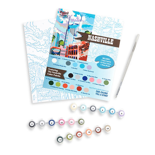 Nashville Paint by Numbers Kit