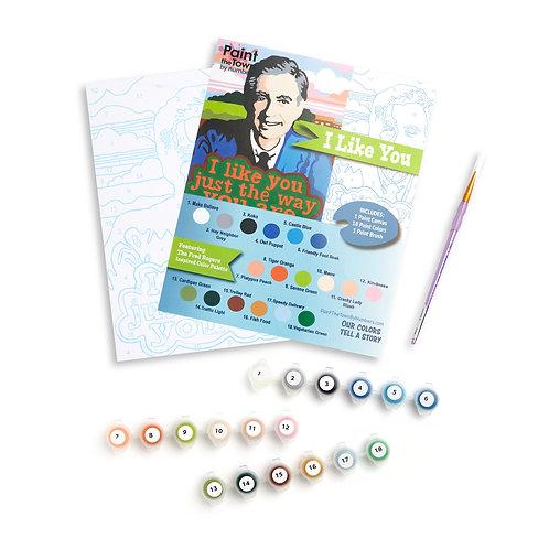 I Like You Paint by Numbers Kit