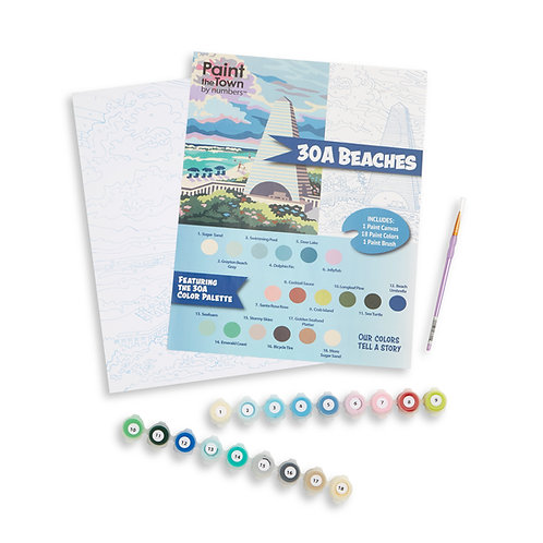 30A Beaches Paint by Numbers Kit