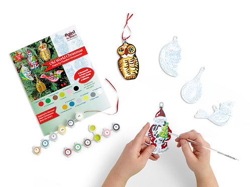 Old World Ornaments Paint by Numbers Kit