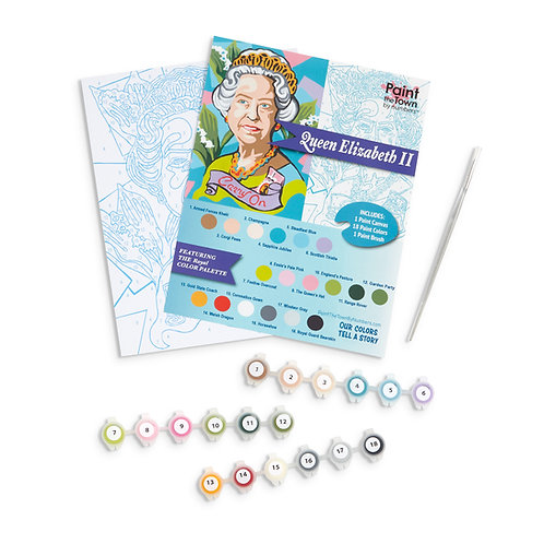 Queen Elizabeth II Paint by Numbers Kit