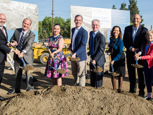 L.A. LEADERS BREAK GROUND ON VALLEY GROUNDWATER TREATMENT FACILITY