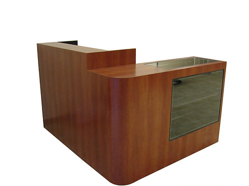 """L"" Shape Desk Showcase 70"" x 60"""