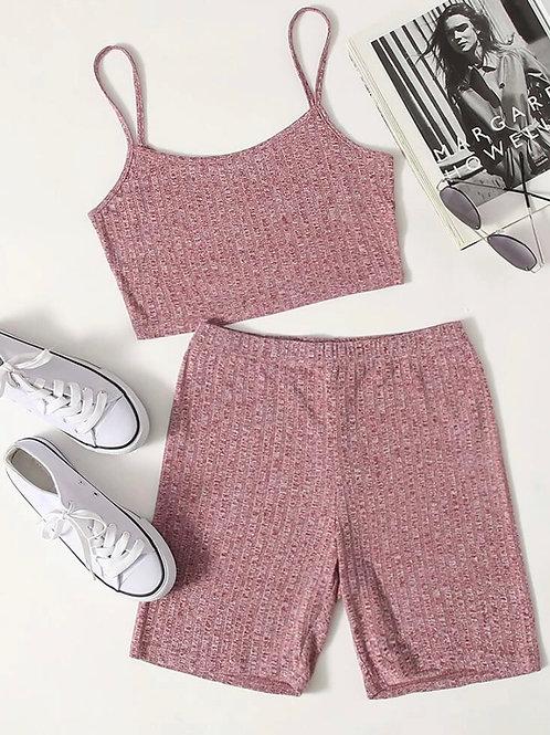 Nude Pink Shorts Set