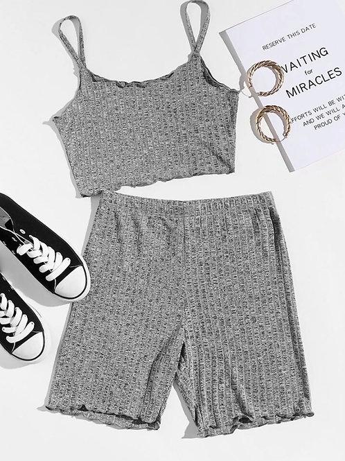 Gray Shorts Set
