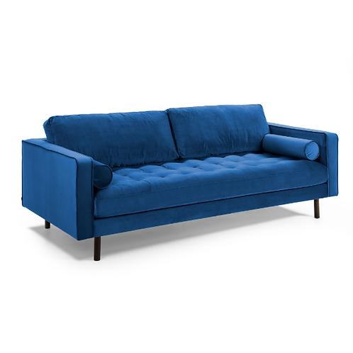 Sofá BOGART - Veludo Azul
