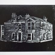 The Manse Lino Print 5
