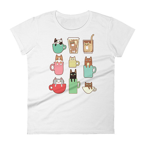 Coffee Cats Women's short sleeve t-shirt
