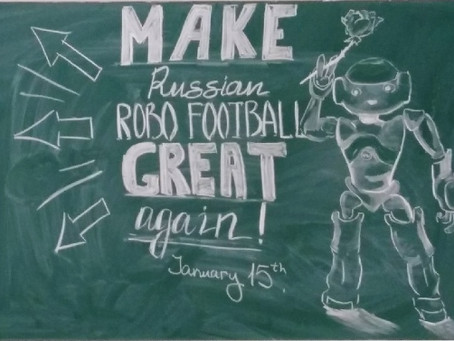Some art-work on the chalk board