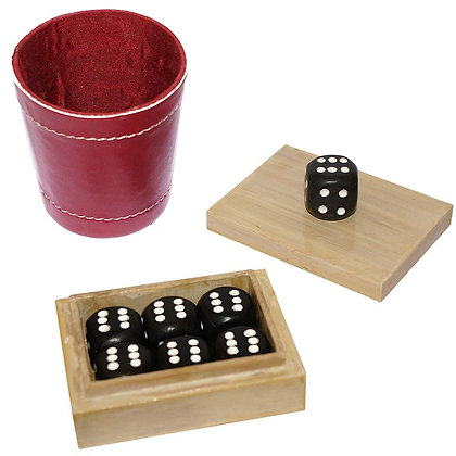 Problema - With Leather Dice Cup