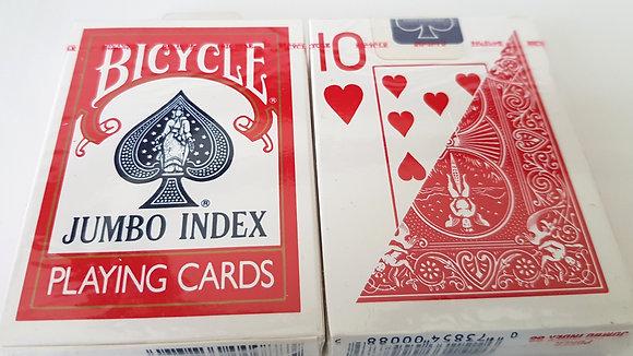 Jeu de cartes Bicycle poker Jumbo Index Rouge