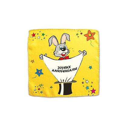 Foulard Joyeux Anniversaire - 45 cm