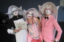 Sister Mary Fing Poppins, Sister Perky Dot & Sister Unity assist at bingo.