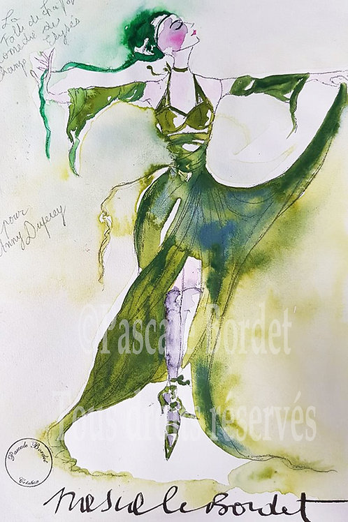 Colombe - Pour Anny Duperey - La robe verte