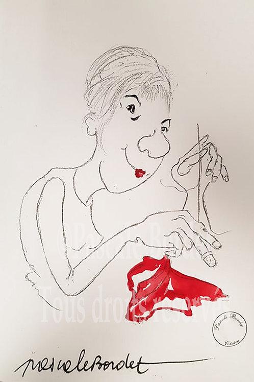 Autoportrait Pascale Bordet
