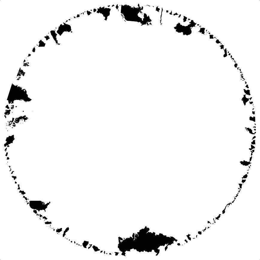 Map, circle, peace