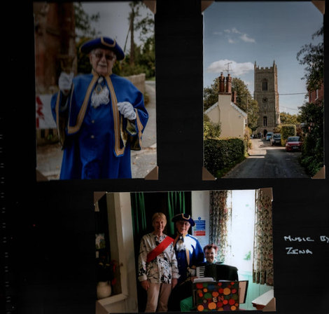 Our Town Crier and Music by Zena at the Art Exhibition