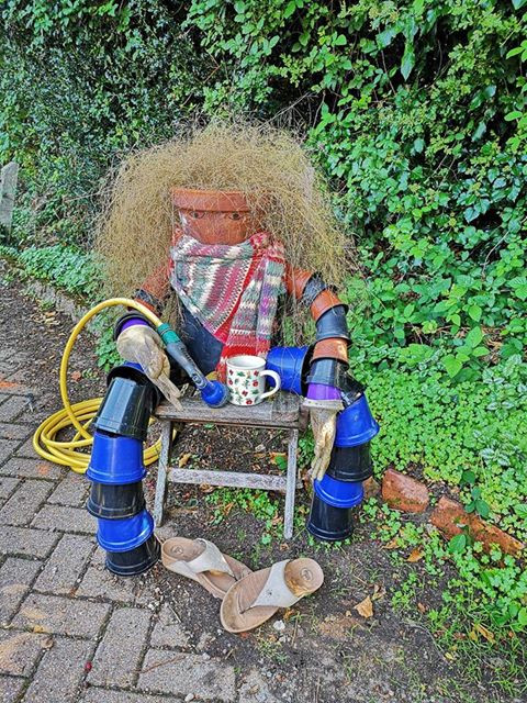 Great scarecrow at Potts Croft