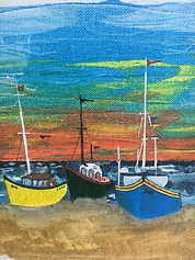 Fishing boats in Arniston South Africa where the Atlantic meets the Indian Ocean. David BerridgePG
