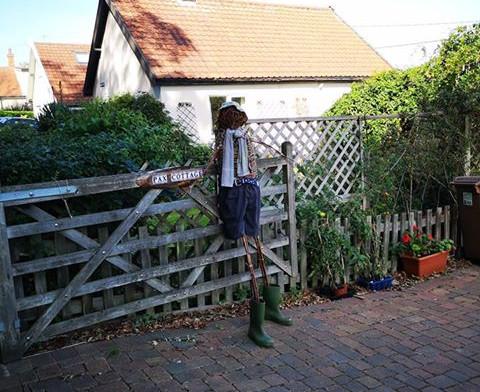 Pax cottage scarecrow