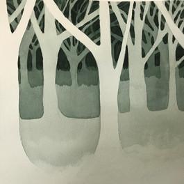 Negative painting demo piece