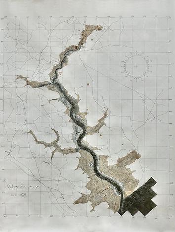Deben Soundings  Watercolour, ink, pencil on paper 2020 – present 2m/1.5m