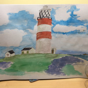 Barry's Offord Lighthouse (assumed painted in the toilet to qualify or he has posh toilet rolls)