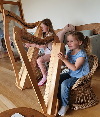 Young harpists