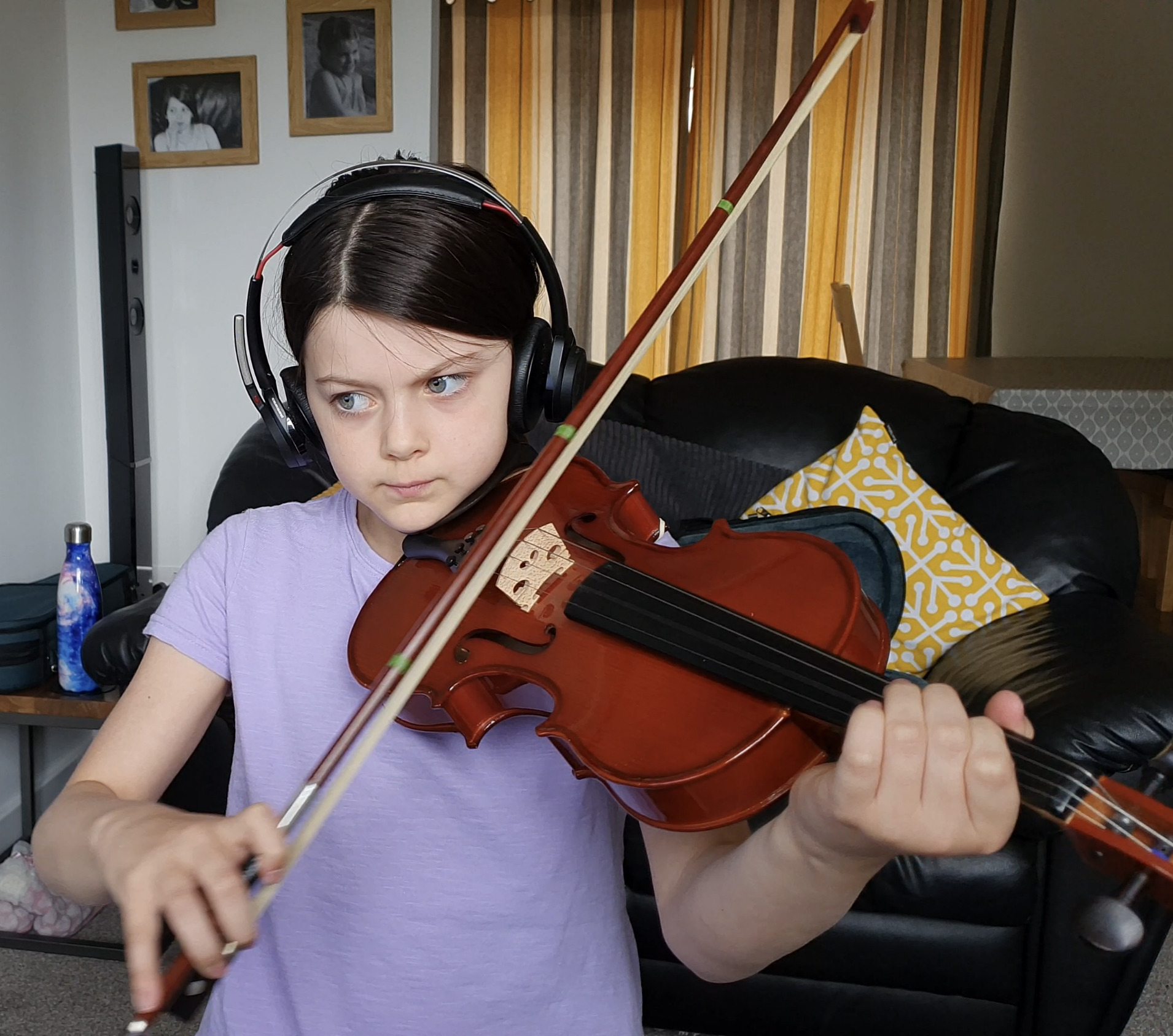Home Schooling - participating in an online international concert