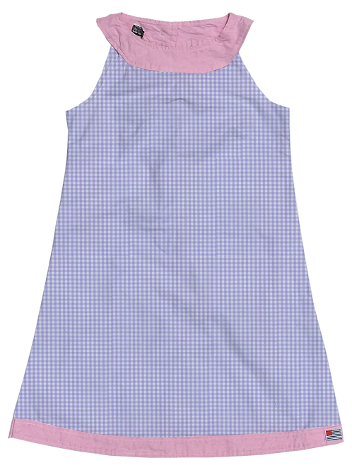 A-Line Shift Dress - Lavendar Gingham