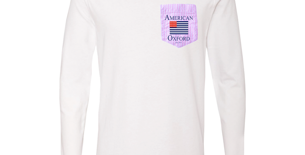 Signature American Oxford Pink & White Stripe Pocket