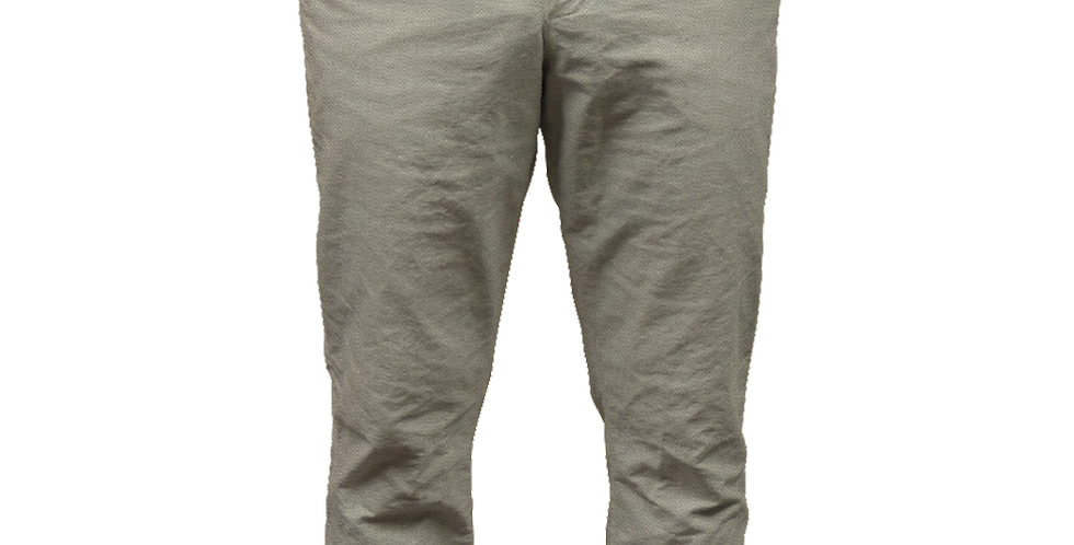 Khaki Twill Pant with Salmon