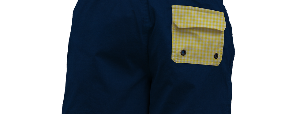 Yellow gingham pocket