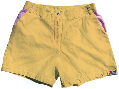 The Lake Short Solid Cotton Lemon