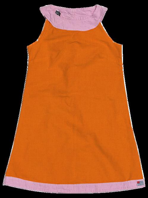 A-Line Shift Dress - Cotton Kumquat