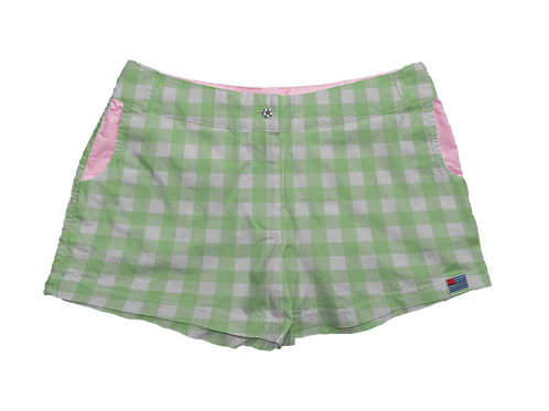 """Solid 1"""" Mint Gingham"""