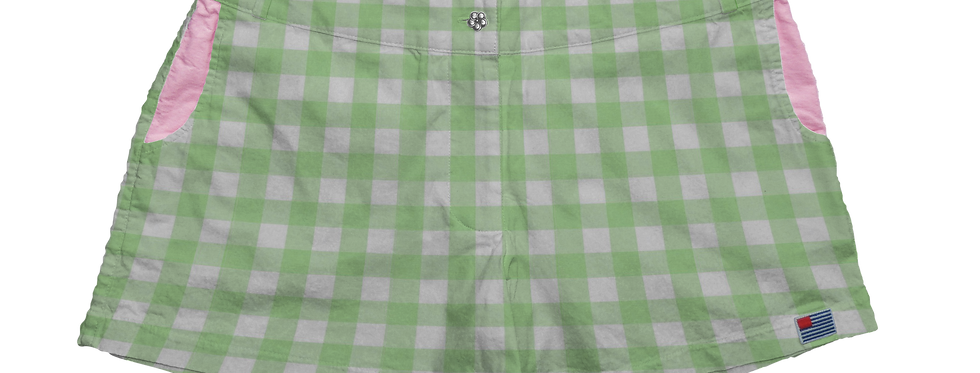 "Solid 1"" Mint Gingham"