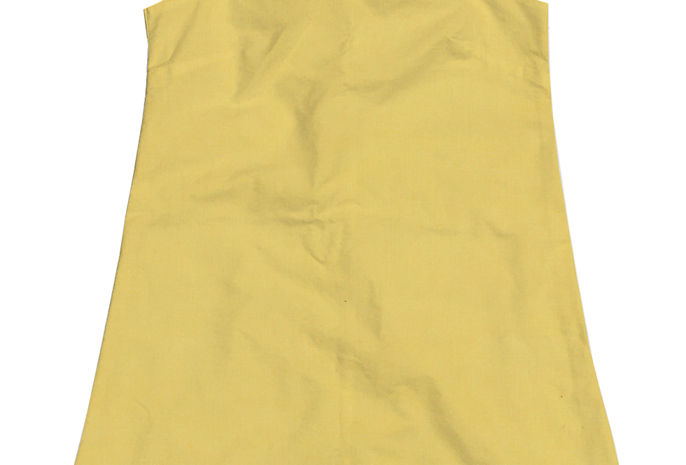 A-Line Shift Dress - Cotton Lemon