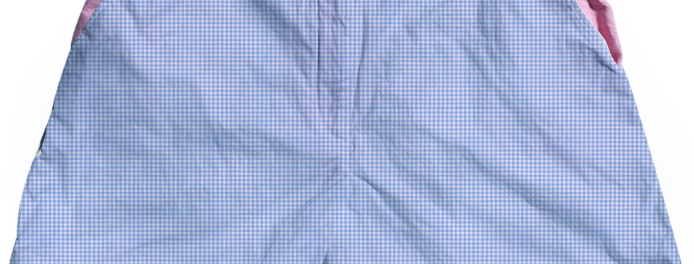 The Lake Short Small Periwinkle Gingham