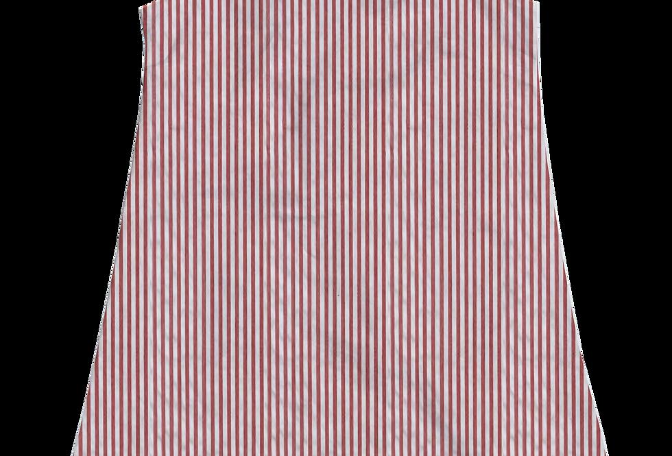 A-Line Shift Dress- Red Seersucker