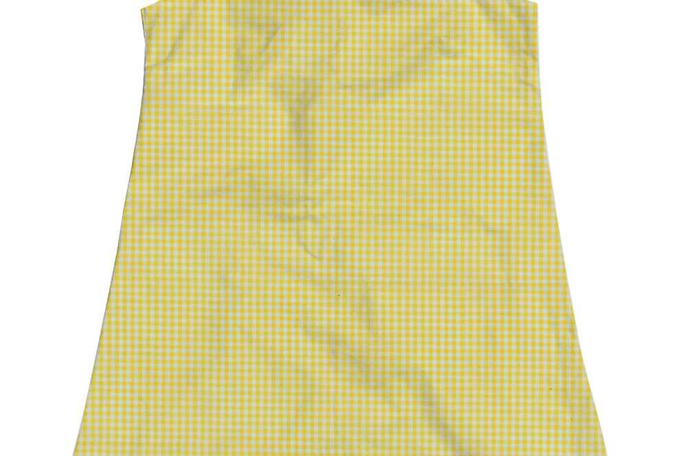 A-Line Shift Dress - Yellow Gingham
