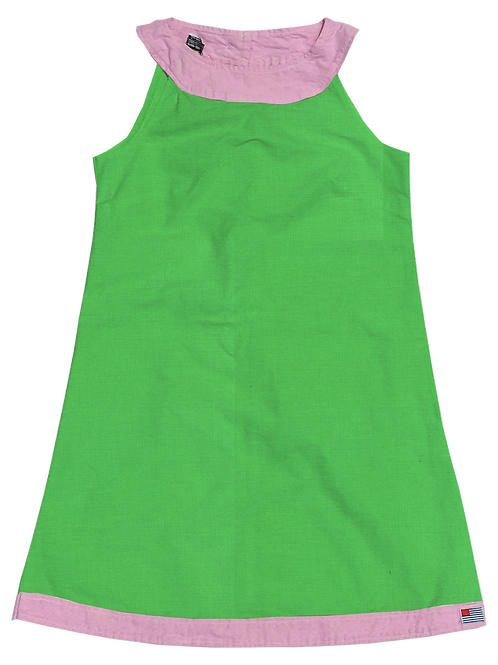 A-Line Shift Dress - Cotton Kiwi
