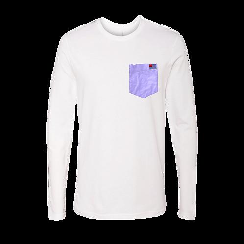 Small American Oxford Flag on Purple Pocket